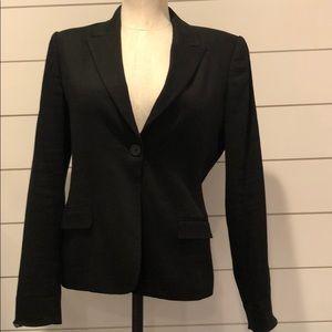 Elie Tahari black stripe texture blazer